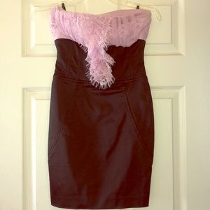 Bebe strapless mini dress